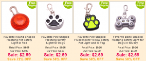 my favorite pet shop deals on led charms and collars