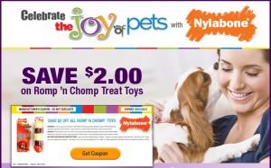 nylabone dog toys coupon