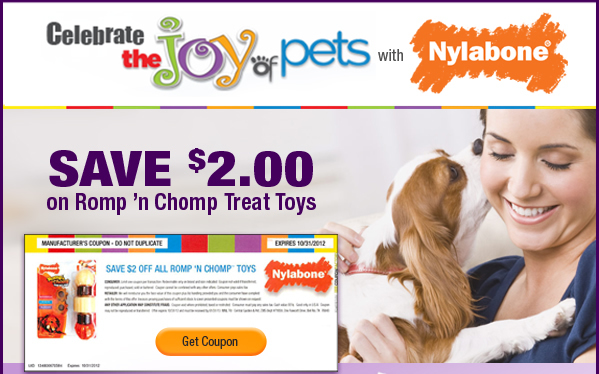 nylabone dog toys coupon