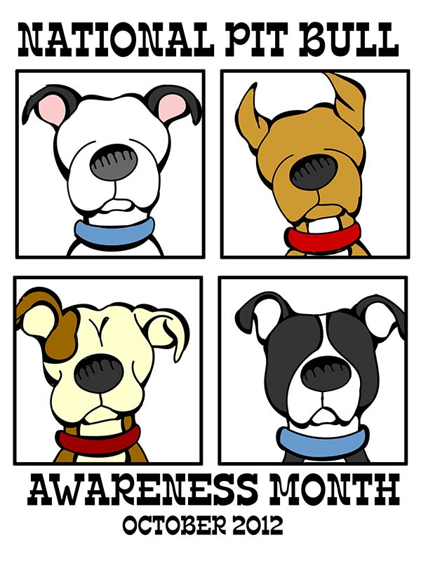 free printable for national pit bull month