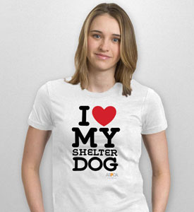 I love my shelter dog tshirt