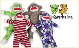 sock monkey dog toys