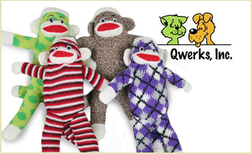 sock monkey dog toys