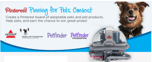 Bissell Pets Pinterest Contest
