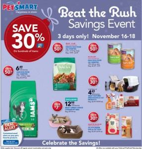 PetSmart Beat Black Friday Rush Sale