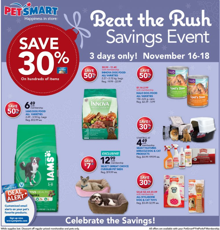 PetSmart Beat Black Friday Rush Sale
