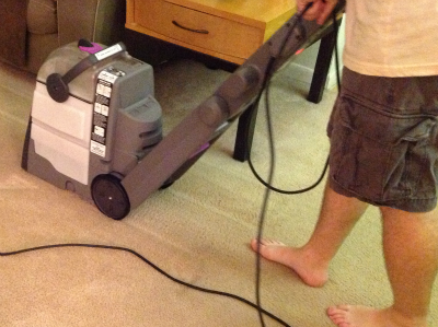 cleaning carpet with rental machine from bissell and petsmart