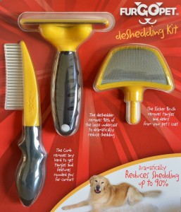 deshedding tool and brush kit for pets
