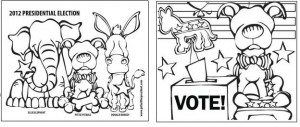 free printable dog vote coloring sheets