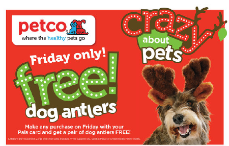 petco free dog antlers black friday