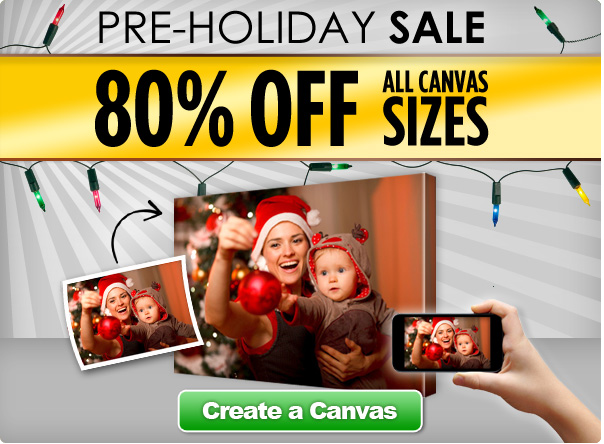 photo canvas holiday sale