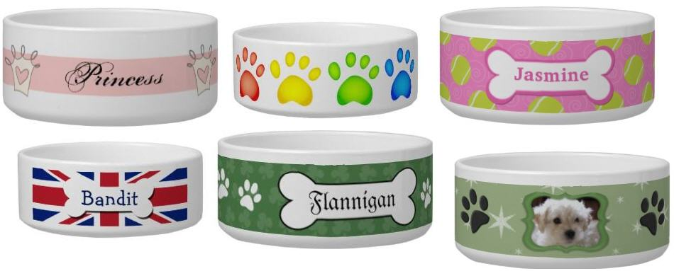 zazzle dog bowls