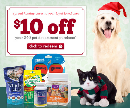 $10 Off coupon for pet supplies at Drugstore.com