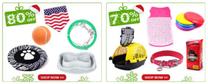 80% off holiday pet sale