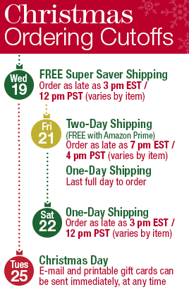 amazon christmas shipping deadlines