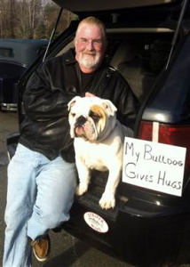 bulldog hugs