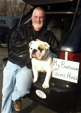 bulldog hugs