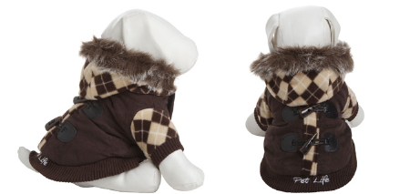 brown dog coat