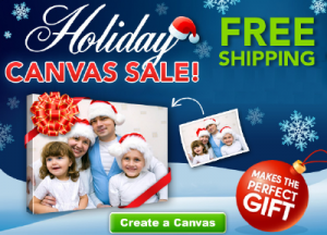 holiday photo canvas gift