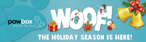 pawbox woof holiday gift box for dogs