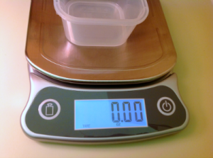 tare feature to subtract weight of container