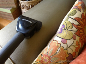 cleaning the sofa arm