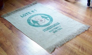 Burlap Pet Food Place Mat
