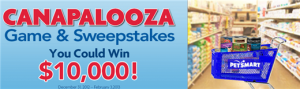canapalooza game for free pet food coupons and cash prizes