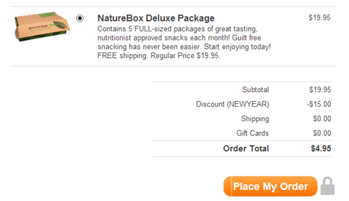 NatureBox order example