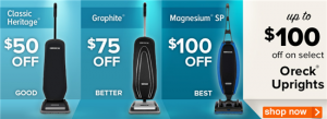 promo codes for oreck vacuum cleaners