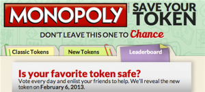 save your favorite monoply token