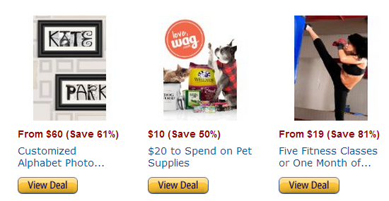 Amazon Local deals for pets and people