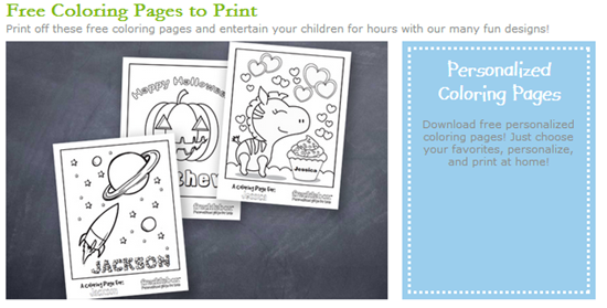 Free Personalized Coloring Sheets and Valentine\'s Day Cards | Woof ...