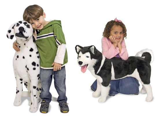 life size dogs from Melissa & Doug