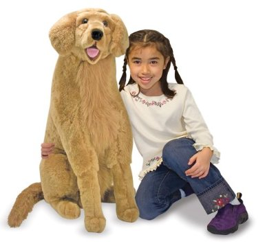 life-size golden retriever dog toy