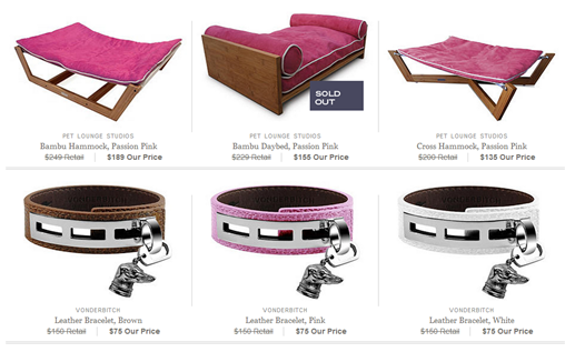 pet lounge and collars