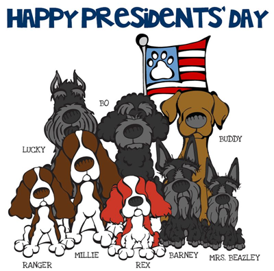 President's day dogs free printables