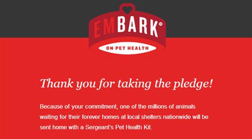 Pet Health pledge