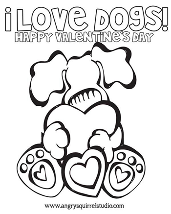 valentines dog printable