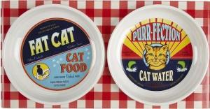 vintage cat food bowls