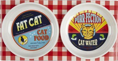 vintage cat food bowls