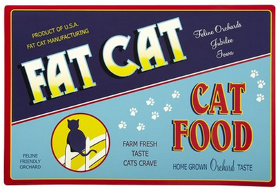 vintage cat mat
