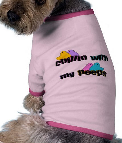chillin peeps dog tee