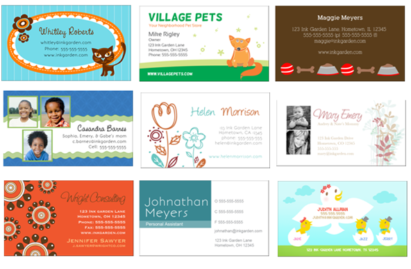 Free Business Cards Great For Moms Bloggers Pets Too Woof - Babysitting business cards templates free