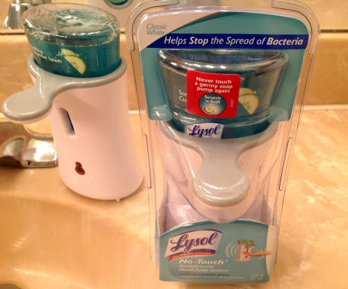 lysol-no-touch hand soap system