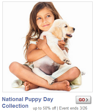 puppy day sale at zulily