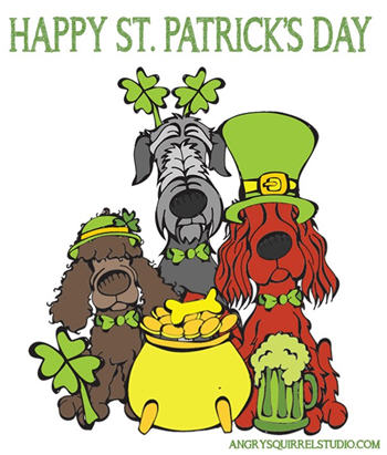 st patricks day dogs, free kid's printable coloring sheet