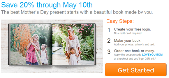 Mother's Day Gift Deal from Blurb:
