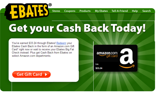 ebates cash back notification