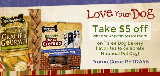three dog coupon code